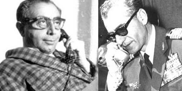 مشورت تلفنی شاه با علی امینی