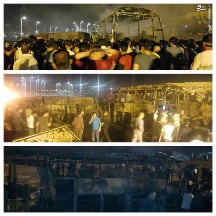 عکس /  انفجار مرگبار تانکر سوخت در سنندج