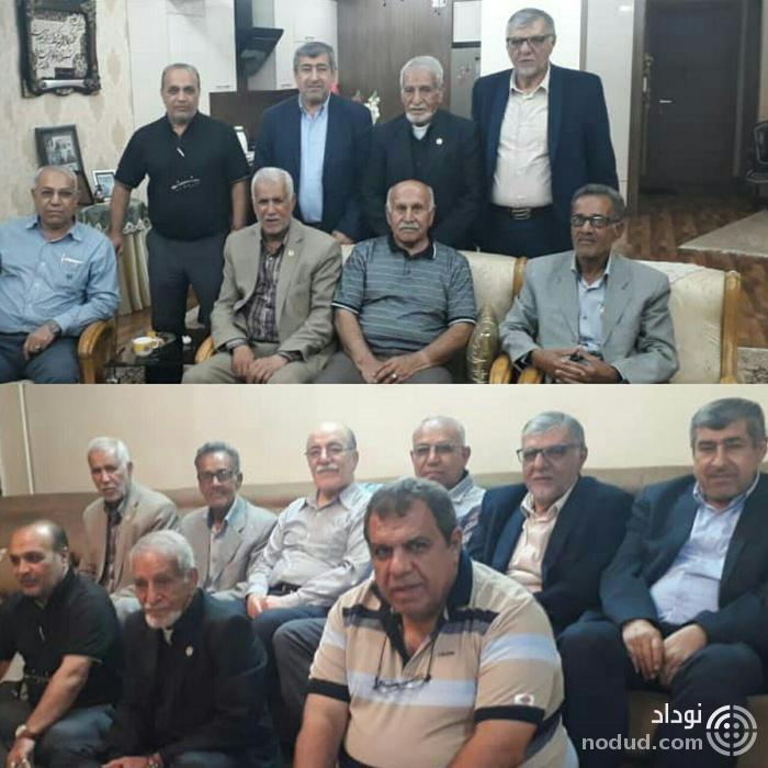 ملاقات بزرگان فوتبال در اهواز(عکس)
