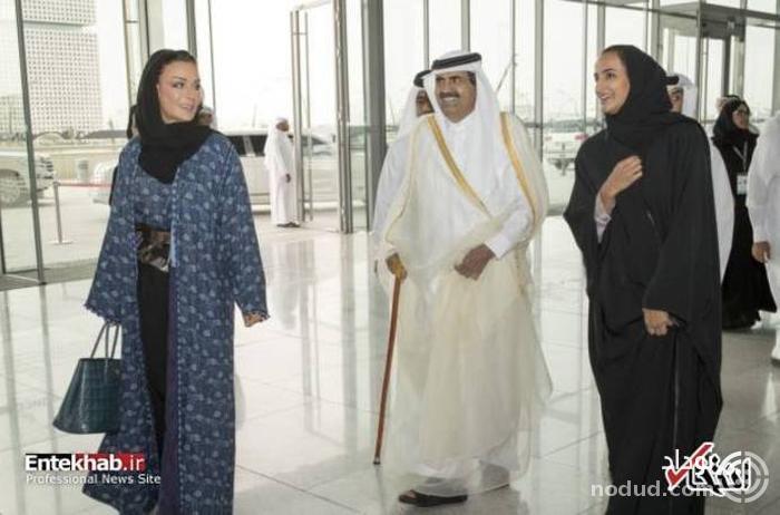 بانوی اول قطر بالاخره آفتابی شد! + عکس