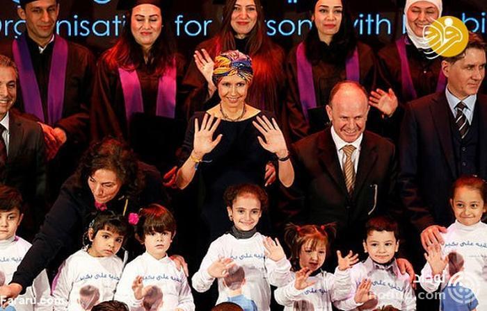 حجابِ همسر بشار اسد پس از ابتلا به سرطان