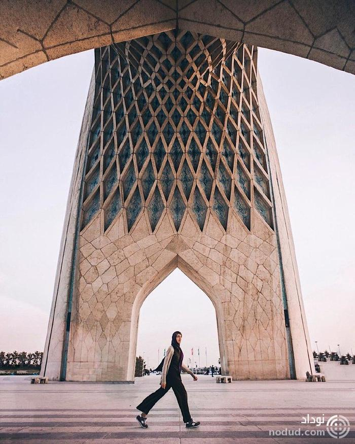 عکس های دختر روس از جاذبه های تاریخی ایران