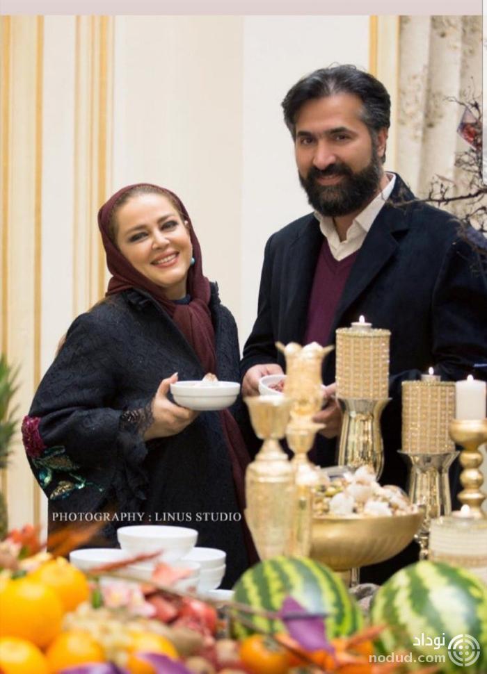 عکس یلدایی بهاره رهنما و همسرش