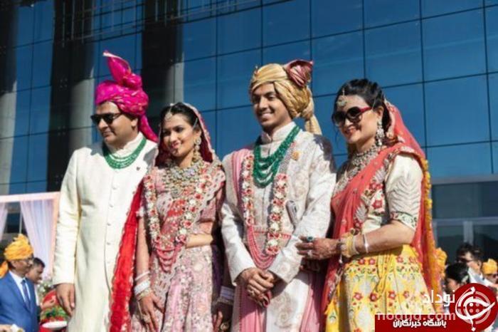 ازدواج جنجالی و پرهزینه زوج هندی در چین! + تصاویر//