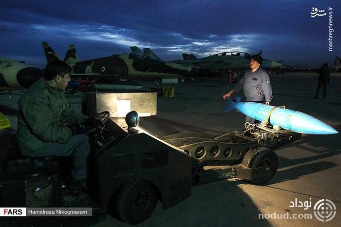 اولین تصاویر از آزمایش شبانه مادر بمبهای ایران در اصفهان ! + عکس ها