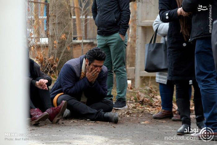 عکس /  حضور خانواده قربانیان حادثه سقوط هواپیما