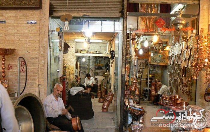 بازار مسگری یا پنجه علی یزد