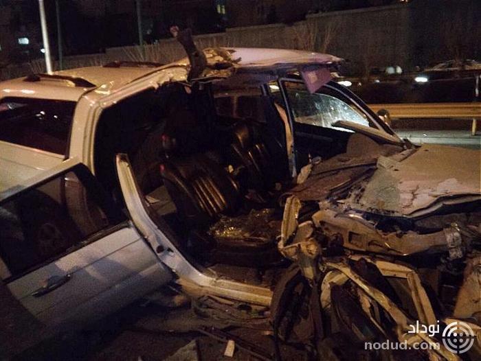 برخورد مرگبار خودروی سواری با کامیون