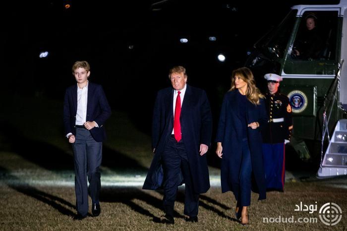 قد کشیدن عجیب پسر کوچک ترامپ ظرف چند ماه + تصاویر