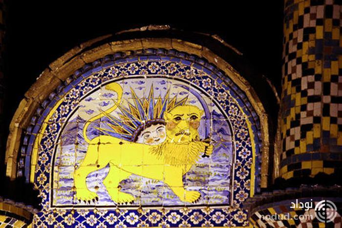 دروازه ای که ناصرالدین شاه با آن عکس گرفت