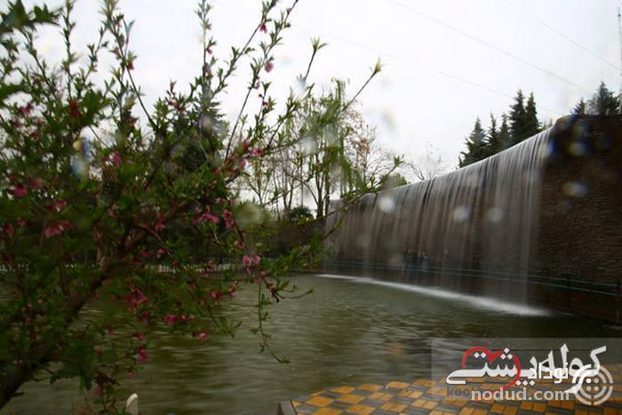 آبشار و برکه باغ گلها
