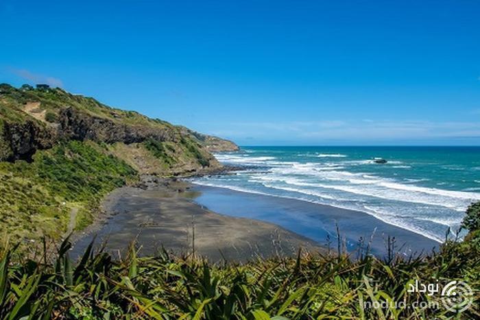 ساحل Muriwai، اوکلند، نیوزیلند
