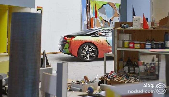 ب ام و i8 هنری با ظاهر رنگارنگ!