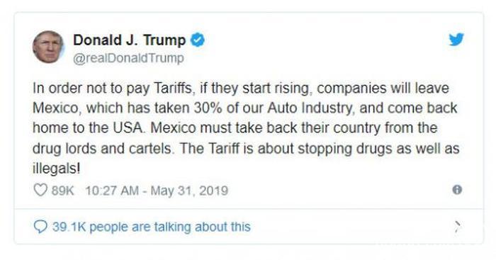تعرفه 5 درصدی دولت ترامپ بر خودروهای وارداتی از مکزیک