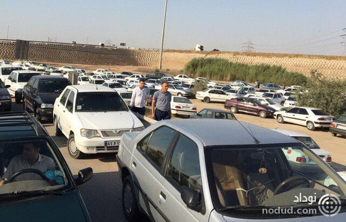 ترافیک سنگین در مسیرهای منتهی به ورزشگاه فولاد