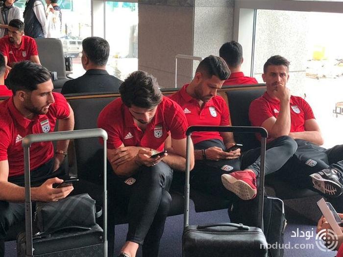 ورود کاروان تیم ملی فوتبال به سئول + عکس