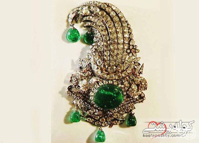 جقه نادری؛ گنجینه ای از الماس و زمرد