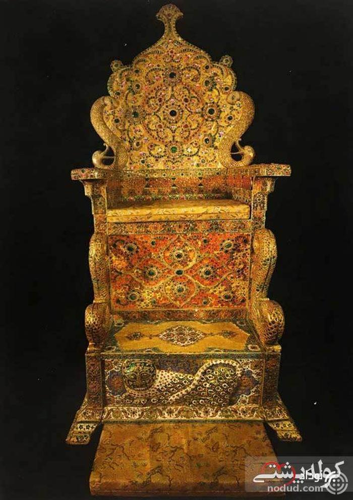 تخت نادری؛ یکی از زیباترین تخت های سلطنتی قاجار ها