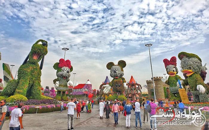 محل بازی کودکان در باغ گل دبی