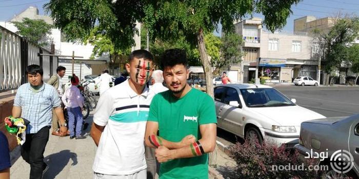 استقبال بانوان افغانستانی از فینال فوتسال در تبریز