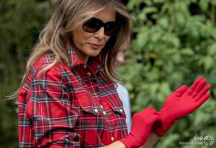 باغبانی ملانیا ترامپ