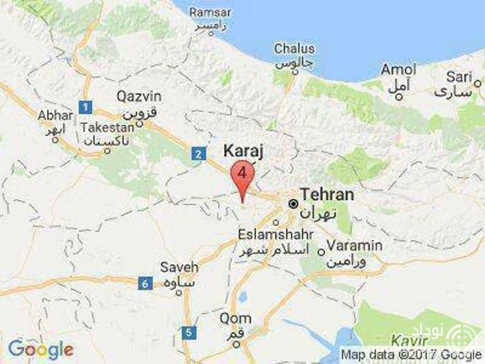 محل زلزله دوباره تهران