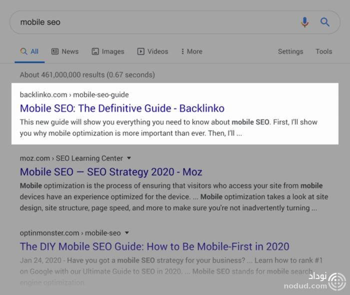 سئوی موبایل در گوگل